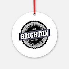 Brighton Ski Resort Utah Black Round Ornament