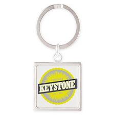 Keystone Ski Resort Colorado Yello Square Keychain