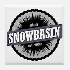 Snowbasin Ski Resort Utah Black Tile Coaster