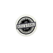 Snowbasin Ski Resort Utah Black Mini Button