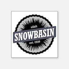 "Snowbasin Ski Resort Utah B Square Sticker 3"" x 3"""