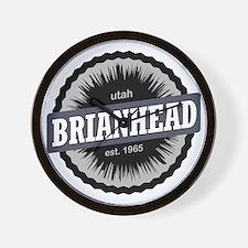 Brian Head Ski Resort Utah Black Wall Clock