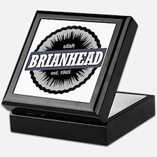 Brian Head Ski Resort Utah Black Keepsake Box