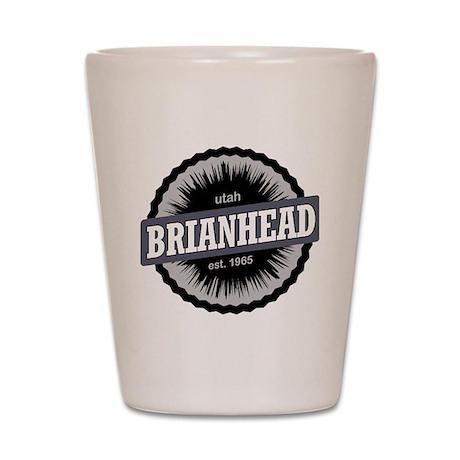 Brian Head Ski Resort Utah Black Shot Glass