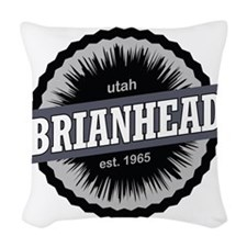 Brian Head Ski Resort Utah Bla Woven Throw Pillow
