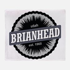 Brian Head Ski Resort Utah Black Throw Blanket