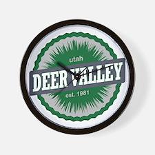 Deer Valley Ski Resort Utah Green Wall Clock