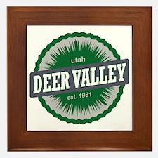 Deer Valley Ski Resort Utah Green Framed Tile