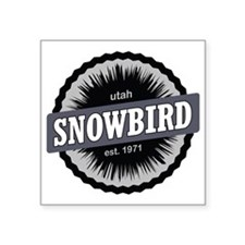 "Snowbird Ski Resort Utah Bl Square Sticker 3"" x 3"""