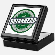 Brian Head Ski Resort Utah Green Keepsake Box