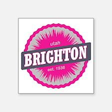 "Brighton Ski Resort Utah Pi Square Sticker 3"" x 3"""