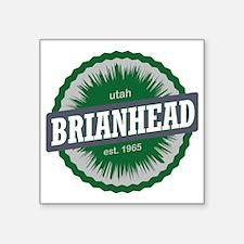 "Brian Head Ski Resort Utah  Square Sticker 3"" x 3"""