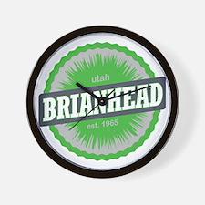 Brian Head Ski Resort Utah Lime Green Wall Clock