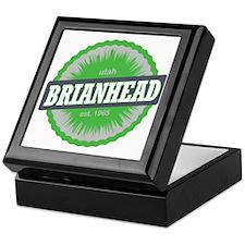 Brian Head Ski Resort Utah Lime Green Keepsake Box