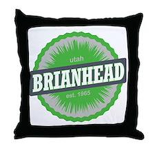 Brian Head Ski Resort Utah Lime Green Throw Pillow