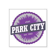 "Park City Mountain Ski Reso Square Sticker 3"" x 3"""
