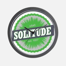 Solitude Ski Resort Utah Lime Green Wall Clock