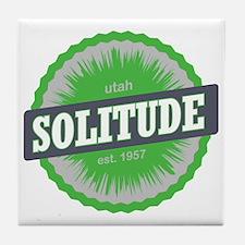 Solitude Ski Resort Utah Lime Green Tile Coaster