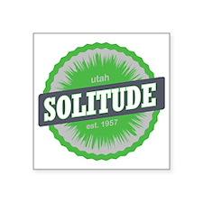 "Solitude Ski Resort Utah Li Square Sticker 3"" x 3"""