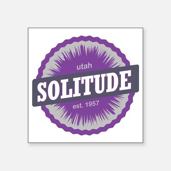 "Solitude Ski Resort Utah Pu Square Sticker 3"" x 3"""