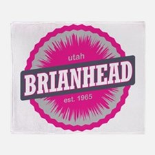 Brian Head Ski Resort Utah Pink Throw Blanket