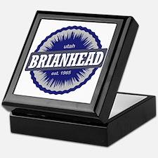 Brian Head Ski Resort Utah Blue Keepsake Box