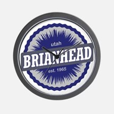 Brian Head Ski Resort Utah Blue Wall Clock