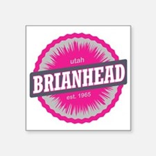 "Brian Head Ski Resort Utah  Square Sticker 3"" x 3"""