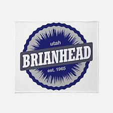 Brian Head Ski Resort Utah Blue Throw Blanket