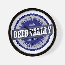 Deer Valley Ski Resort Utah Blue Wall Clock