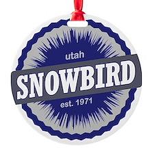 Snowbird Ski Resort Utah Blue Ornament