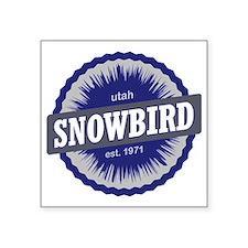 """Snowbird Ski Resort Utah Bl Square Sticker 3"""" x 3"""""""