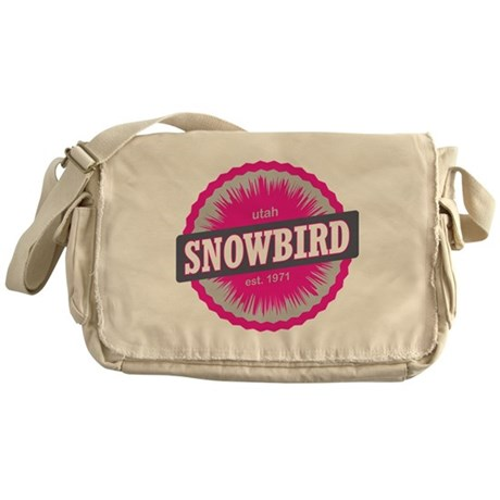 Snowbird Ski Resort Utah Pink Messenger Bag