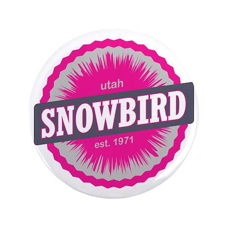 """Snowbird Ski Resort Utah Pink 3.5"""" Button"""