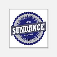 "Sundance Ski Resort Utah Bl Square Sticker 3"" x 3"""