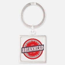 Brian Head Ski Resort Utah Red Square Keychain