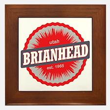 Brian Head Ski Resort Utah Red Framed Tile