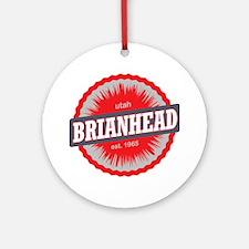 Brian Head Ski Resort Utah Red Round Ornament