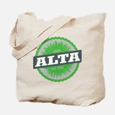 Alta Ski Resort Utah Lime Green Tote Bag