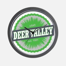 Deer Valley Ski Resort Utah Lime Green Wall Clock