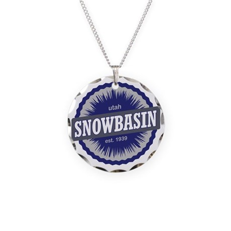 Snowbasin Ski Resort Utah Bl Necklace Circle Charm