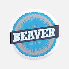 "Beaver Mountain Ski Resort Utah Sky Bl 3.5"" Button"