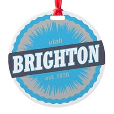 Brighton Ski Resort Utah Sky Blue Ornament