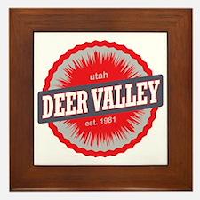 Deer Valley Ski Resort Utah Red Framed Tile