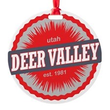 Deer Valley Ski Resort Utah Red Ornament