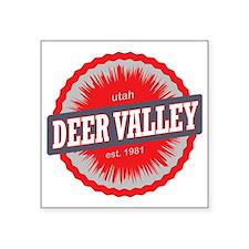 "Deer Valley Ski Resort Utah Square Sticker 3"" x 3"""