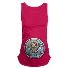 diver-womb-T.png Maternity Tank Top