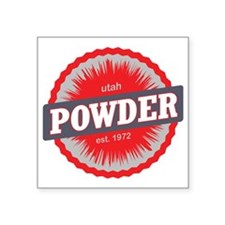 "Powder Mountain Ski Resort  Square Sticker 3"" x 3"""