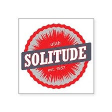 "Solitude Ski Resort Utah Re Square Sticker 3"" x 3"""
