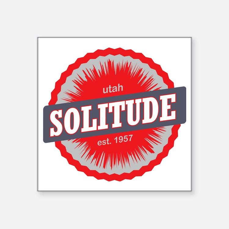 "Solitude Ski Resort Utah Re Square Sticker 3"" x 3"""